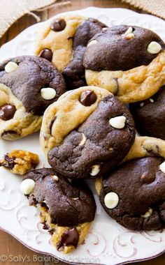 Soft-baked and completely irresistible chocolate chip cookies swirled with chocolate white chocolate cookies.