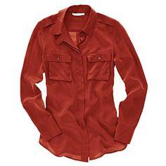 Silk cargo shirt--like the hidden button placket.