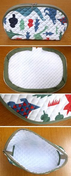 cosmetic bag purse fabric sewing quilt http://www.handmadiya.com/2016/10/how-to-sew-makeup-bag.html