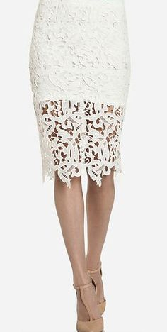 Oh so lovely.  Venetian Lace Skirt via @lovelyclusters.  #skirt #laceskirt