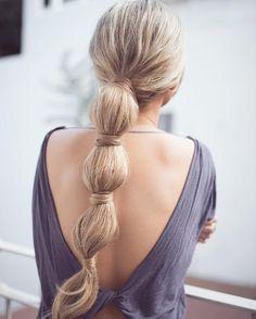 Bubble+Braid+For+Long+Hair