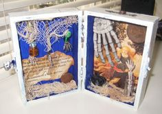 AlTerEd aRt pHalAngEs in AzUrE  wOOdEn bOx by SauvageRavenCreation, $12.00