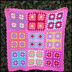 A little granny square blanket for my daughter's dolls:) Using colour inspo form Lucy (attic 24), the basic granny square pattern from Sarah London and my iwn version if join as you go…...