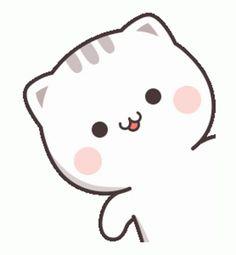 Cute Anime Cat, Cute Bunny Cartoon, Cute Love Pictures, Cute Cartoon Pictures, Cute Love Gif, Cute Love Cartoons, Cute Bear Drawings, Cute Cartoon Drawings, Cute Kawaii Drawings