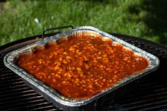 Homemade baked BBQ smoked beans