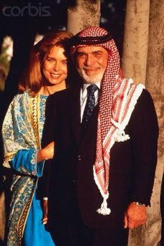 king hussein and queen noor. Dress for success could not be better represented!