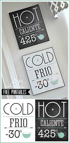 Free Printable Kitchen Set