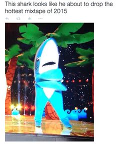 When Left Shark did a joint mixtape with Migos: | The 23 Most Important Moments In Left Shark History