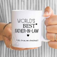 items similar to gifts for father in law worlds best father in law mug father in law gift fathers day gift father in law wedding gift
