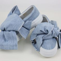 Joshua Sanders #slipon #denim #bow #SS2017