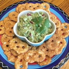 Avocado Chicken Salad Dip  - Allrecipes.com #AllstarsSnackFactory #PretzelCrisps and #ad
