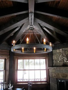 Wine barrel hoop chandelier wrought iron lighting barrels this belongs in a rustic castle made by chicken coop forge lighting rustic aloadofball Image collections