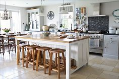 Nick Carter on Behance - light and airy country style kitchen