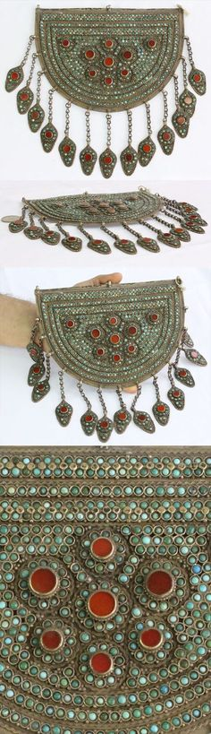 Kazakhstan | Silver, turquoise and carnelian stones || 1901$