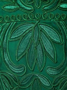 emerald green embroidery