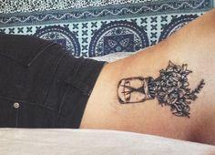 Flowers in a mason jar tattoo. #tattoo #tattoos #masonjar #flowertattoo…