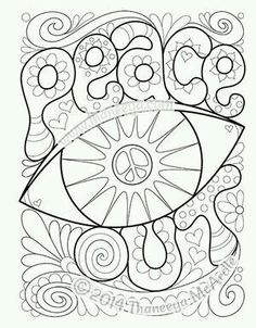 The best hippie coloring pages to boost your creativity Free ... | 302x236