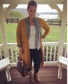 Classically Curvy Plus Size Fashion LuLaRoe Sarah Cardigan Mustard Louis Vuitton Neverfull MM Fall Fashion