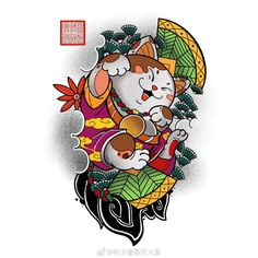 Japanese Tattoo Art, Japanese Tattoo Designs, Japanese Art, Dragon Tattoo Art, Foo Dog Tattoo, Japan Tattoo, Desenho Tattoo, Maneki Neko, Irezumi