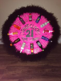 Shot Clock I made for my best friend& Birthday! Best Friend Birthday Present, 21st Birthday Presents, Birthday Present For Boyfriend, 21st Gifts, Birthday Diy, Best Friend Gifts, 21 Birthday Sign, 21st Birthday Games, Diy Gifts
