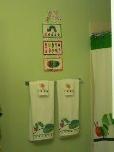 The Clarke Family: Very Hungry Caterpillar Bathroom