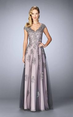 Shop long formal dresses and formal evening gowns at Simply Dresses. Women's formal dresses, long evening gowns, floor-length affordable evening dresses, and special-occasion formal dresses. Mother Of The Bride Dresses Long, Mothers Dresses, Mob Dresses, Bridesmaid Dresses, Prom Gowns, Lace Evening Gowns, The Dress, Dress Lace, Tulle Gown