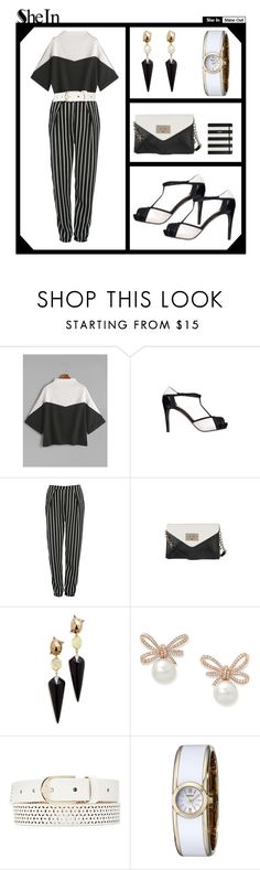 """""""Ivory and Ebony..."""" by leaff88 ❤ liked on Polyvore featuring Diana Ferrari, Glamorous, Alexis Bittar, Witchery, Caravelle by Bulova and Kate Spade"""