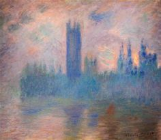 Houses of Parliament, Westminster 1901    Claude Monet