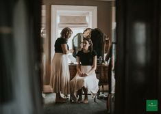 We love these simple but gorgeous bridesmaid outfits! 📸 by Louise Scott Bridesmaid Outfit, Bridal Suite, Ballet Skirt, Romantic, Simple, House, Wedding, Outfits, Fashion