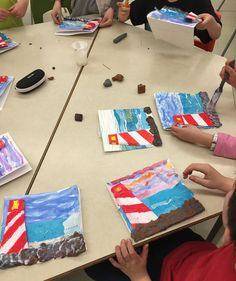 Projects created during various Art Residencies. School Projects, Art Projects, Project Ideas, School Ideas, Art Studies, Social Studies, Lighthouse Keepers Lunch, Art For Kids, Crafts For Kids
