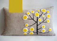 #676 handgemachte Stickerei Bunte Baum Rechteck minstrelsy Kissen Lendenkissen Schlafsofa Hause Zimmer Dezember Großhandel