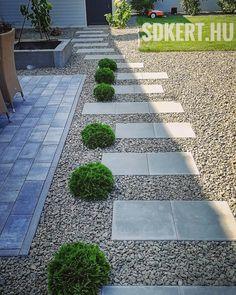 """169 kedvelés, 1 hozzászólás – SD KERT - Spiegel Ákos (@topgarden) Instagram-hozzászólása: """"Danica tipegővel ⚙️☀️ #spiegelakos #kertépítés #kerttervezés #letisztult #sdkert #topgarden…"""" Backyard Patio, Backyard Ideas, Garden Landscaping, Stepping Stones, Sidewalk, Landscape, Outdoor Decor, Gardening, Instagram"""