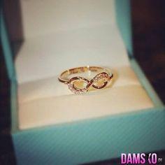 biżuteria, nieskończoność, pierścionek