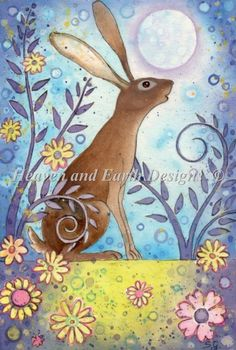 Suzanne Gyseman - Beautiful flowers and bunny rabbit! So cute and whimsical art Illustrations, Illustration Art, Rabbit Art, Bunny Art, Mellow Yellow, Whimsical Art, Animal Paintings, Bird Paintings, Painting Inspiration