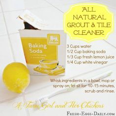 HOMEMADE TUB TILE AND GROUT CLEANER Youll Need Cup Baking - Natural bathroom tile cleaner