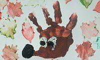 Výtvarný nápad na podzim - ježek jako otisk dlaně a razítka z brambor - Tvoření pro děti a s dětmi - kreativcův průvodce (po galaxii :-).