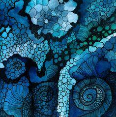 Origins II by zzen on DeviantArt Origins II by zzen on DeviantArt Art Aquarelle, Abstract Watercolor, Watercolor And Ink, Abstract Art, Alcohol Ink Crafts, Alcohol Ink Painting, Alcohol Ink Art, Inspiration Artistique, Silk Painting