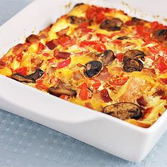 Breakfast Strata - the picture isn't great, but the recipe is very versatile!