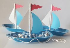Nautical Baby Shower - Nautical Birthday - Nautical Centerpiece - Nautical Boat - Sailboat Party Favor - Nautical Table Decoration - 10ct.