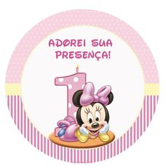 Minnie Baby – Kit festa infantil grátis para imprimir – Inspire sua Festa ®