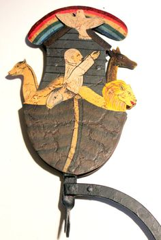 Antique Noahs Ark Counter Balance Folk Art by AntiqueAlchemists, $80.00 Folk Art, Rooster, Art Pieces, Alchemy, Rainbows, Pictures, Crafts, Van, Etsy