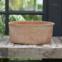 Linen Wrapped Cylinder Bowl in Garden PLANTERS Flowerpots at Terrain