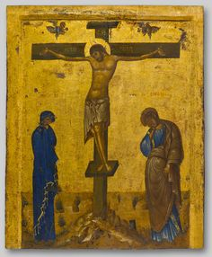 The Crucifixion. 1st half of the 13th c. Byzantine Museum, Athens