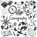 Geography And Geology Education Subject Handwriting Doodle Icon Of Earth Explora., EDUCATİON, Geography And Geology Education Subject Handwriting Doodle Icon Of Earth Exploration And Map Design Sign And Symbol In Isolated Background Paper Used . Notebook Covers, Binder Covers, Kalender Design, Karten Diy, School Notebooks, Sketch Notes, School Subjects, Map Design, Bullet Journal Inspiration
