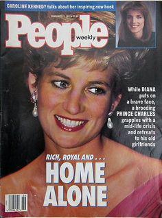 Princess Di Diana Home Alone  Cover of People Magazine Jan 11 1991