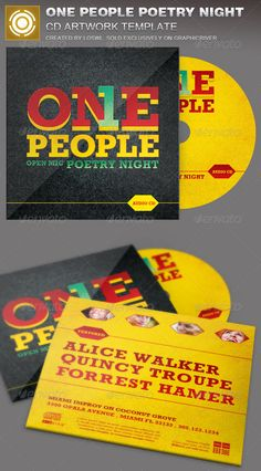 The One People Poetry Night CD Artwork Template is sold exclusively on graphicriver, it can be used for your Church Events, Sermons, Gospel Concert etc, or for any other marketing projects.