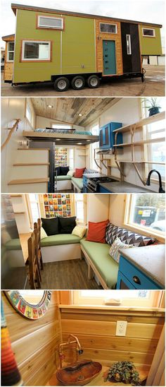 This amazing tiny house was built by MitchCraft Tiny Homes for their clients, Elise and Clara.
