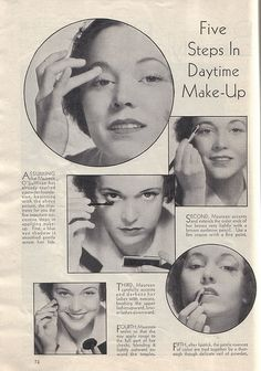 5 Steps to 1930s Daytime Make-Up