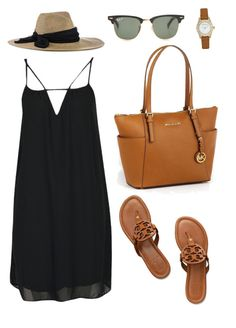 """""""Simplicity"""" by baileyblanchard ❤ liked on Polyvore featuring Boohoo, Eugenia Kim, Tory Burch, MICHAEL Michael Kors, Marc by Marc Jacobs and Ray-Ban"""