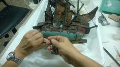 RestaurayConservaObras de Arte: Galeón de Madera - Pastel  - Policromia Jesus Yace...